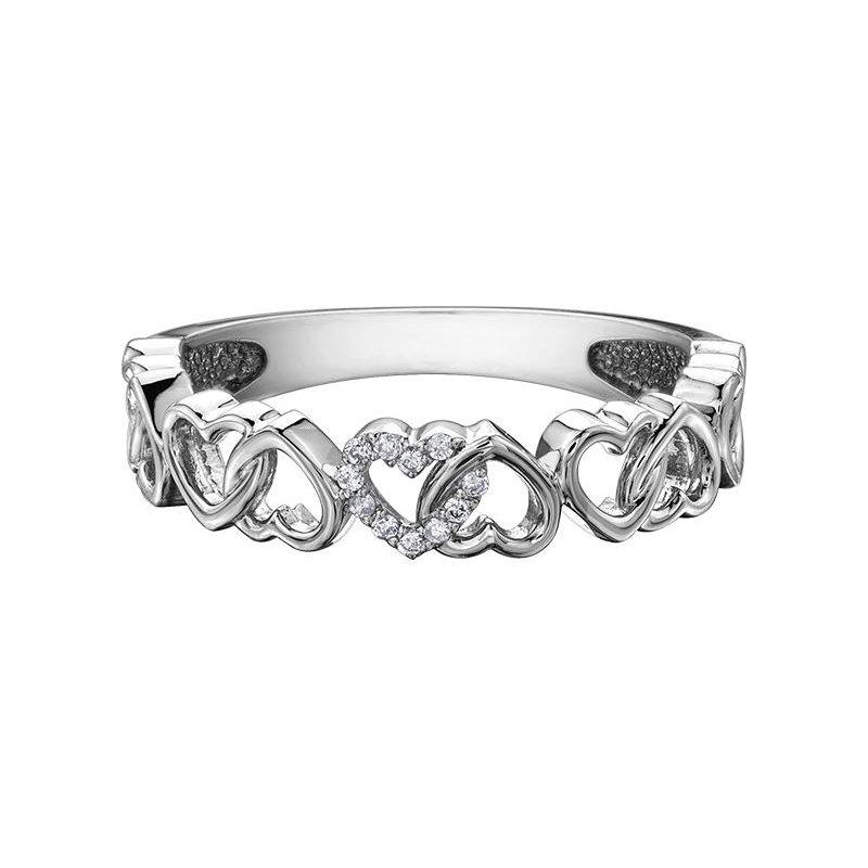 Diamond Days Interlocking Heart Ring