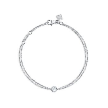 SPLASH- Large Bezel Diamond Bracelet