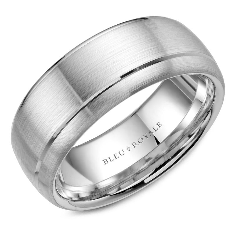 CrownRing Bleu Royale Men's Wedding Band RYL-003W85