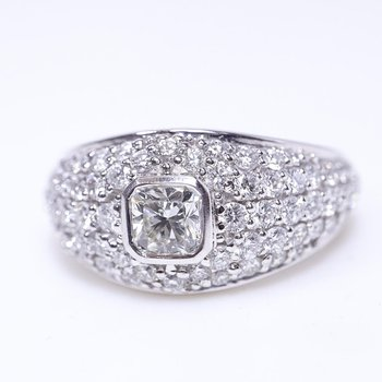 Low Set Ladies Engagement Ring