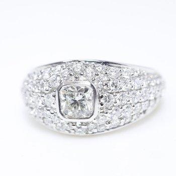 Low Set Ladies Engagement Ring