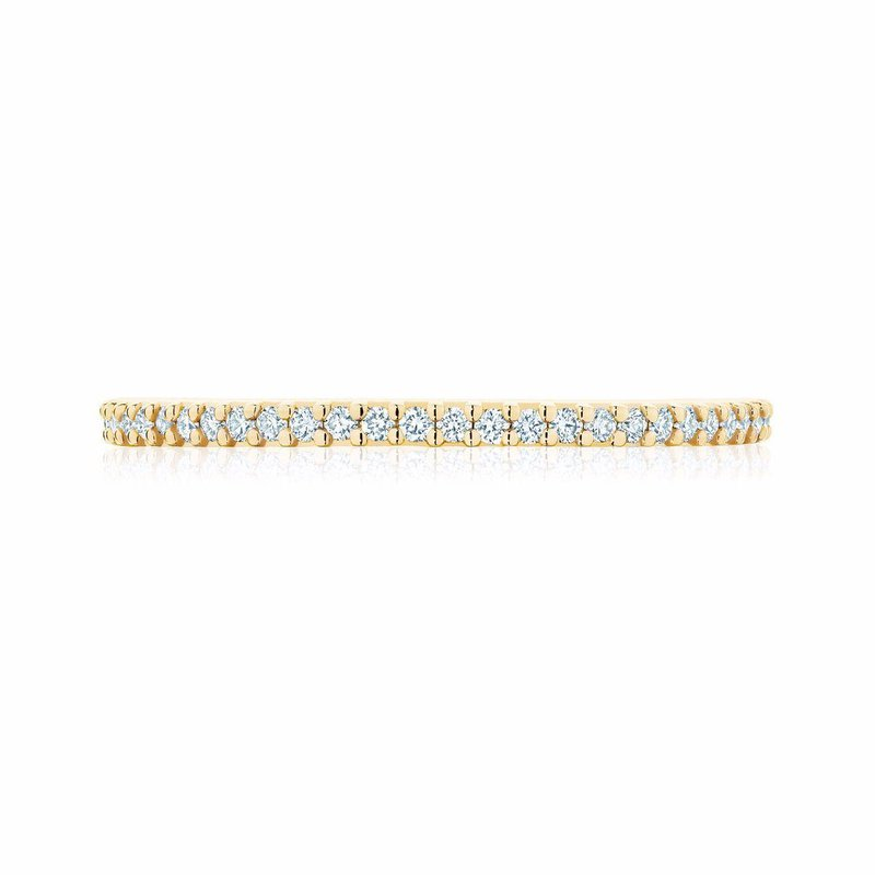 Bijoux Birks BIRKS ICONIC Stackable Yellow Gold and Diamond Rng