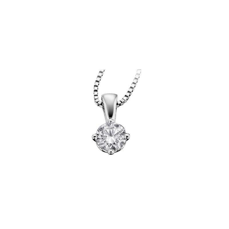 Maple Leaf Diamonds Canadian 0.17CT Diamond Solitaire Pendant