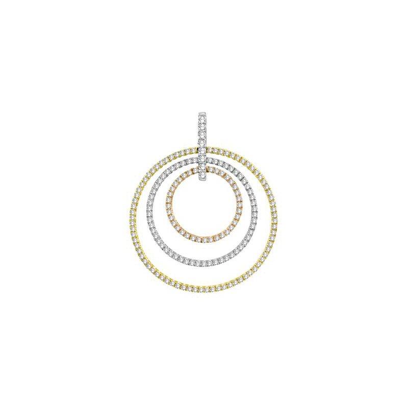 S.KASHI Tri-Gold Diamond Pendant