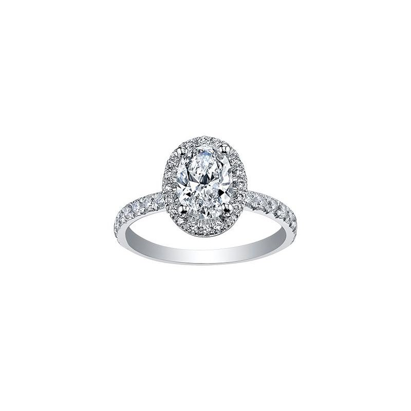 Maple Leaf Diamonds Oval Diamond Engagement Ring