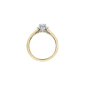 0.41CT Oval Halo Diamond Ring