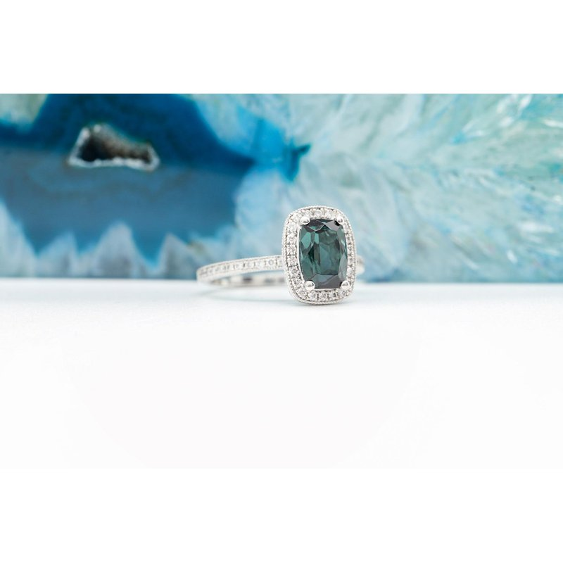 Richardson Signature Indicolite Tourmaline & Diamond Ring