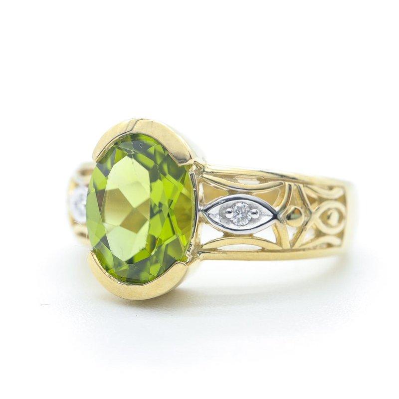Diamond Days Peridot & Diamond ring