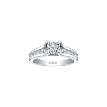 0.71CT Princess-Cut Engagement Ring