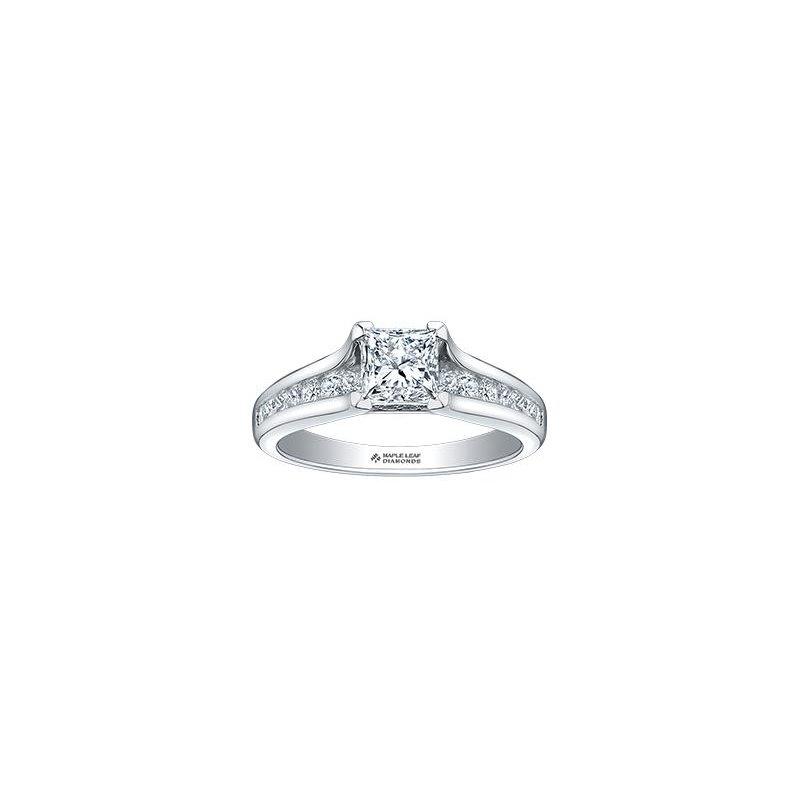 Maple Leaf Diamonds 0.71CT Princess-Cut Engagement Ring