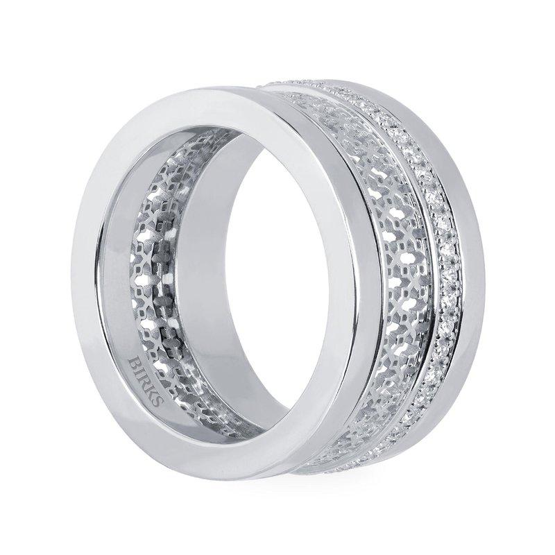 Bijoux Birks BIRKS DARE TO DREAM White Gold Diamond Stacked Ring