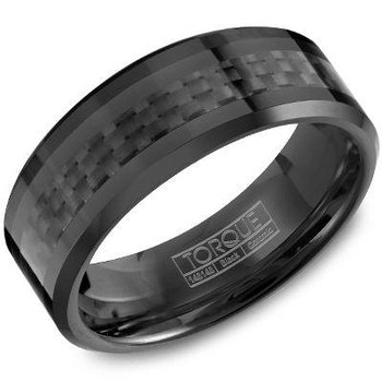 Black Ceramic Carbon Fiber Band