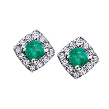 Birthstone Halo Earrings