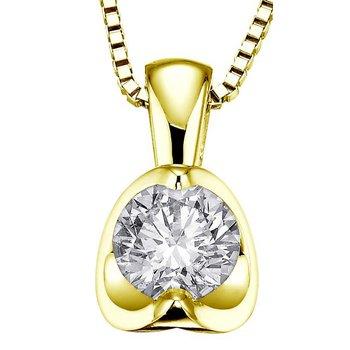 Canadian 0.30CT Diamond Solitaire Pendant