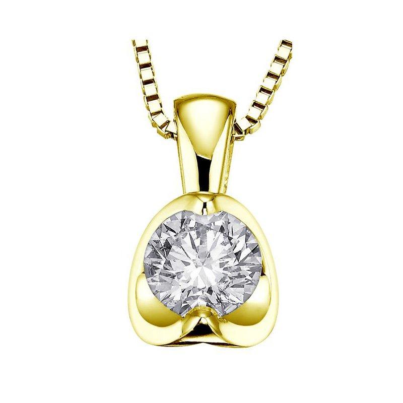 Maple Leaf Diamonds Canadian 0.30CT Diamond Solitaire Pendant
