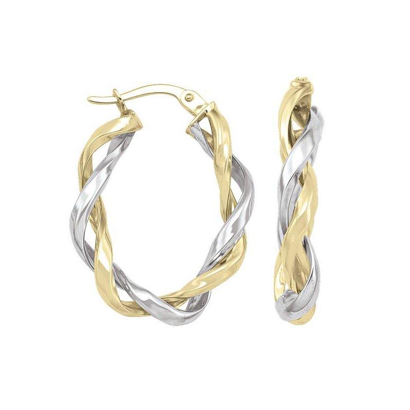 Richardson Signature 14K Twisted Hoop Earrings