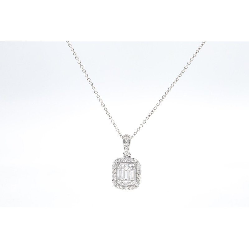 Natalie K Halo Diamond Pendant
