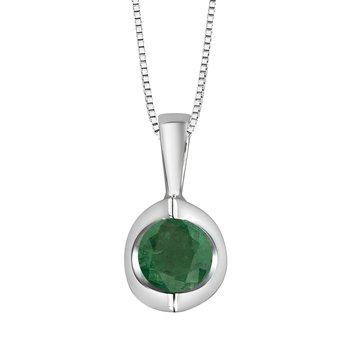Emerald Solitaire Pendant