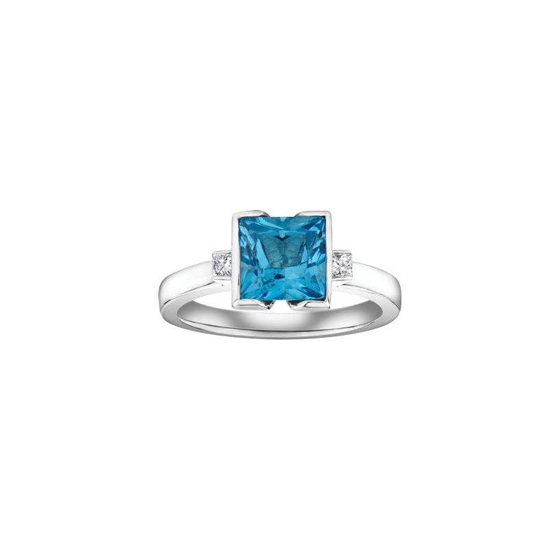 Diamond Days Blue Topaz & Diamond Ring