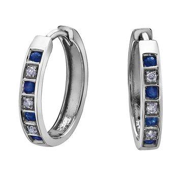 Sapphire & Diamond Huggies