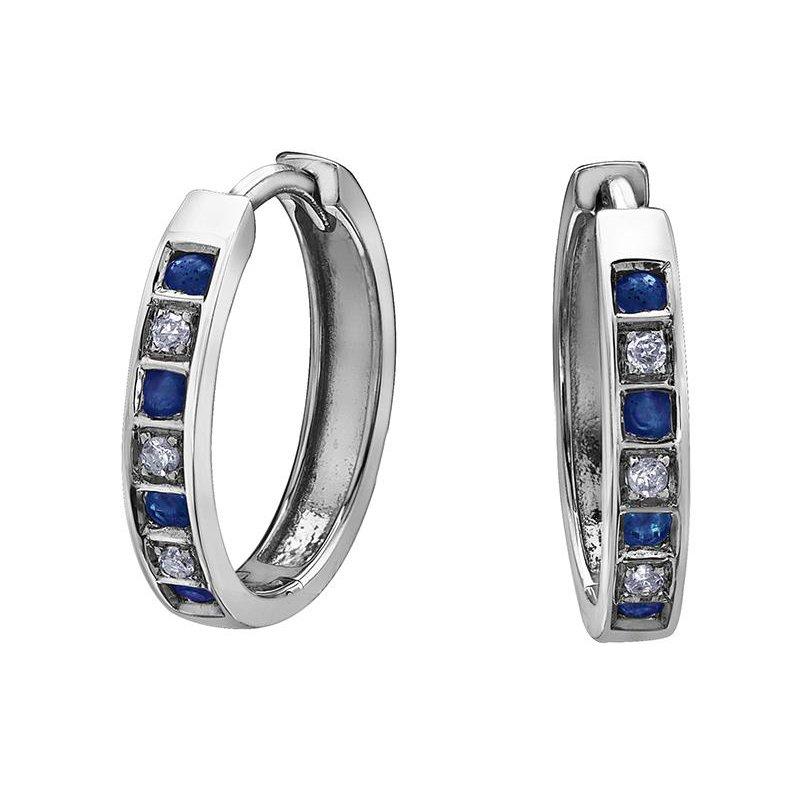 Forever Jewellery Sapphire & Diamond Huggies