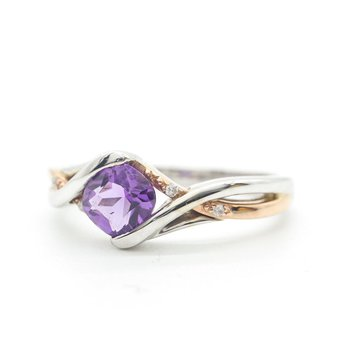 Two-Toned Amethyst Ring