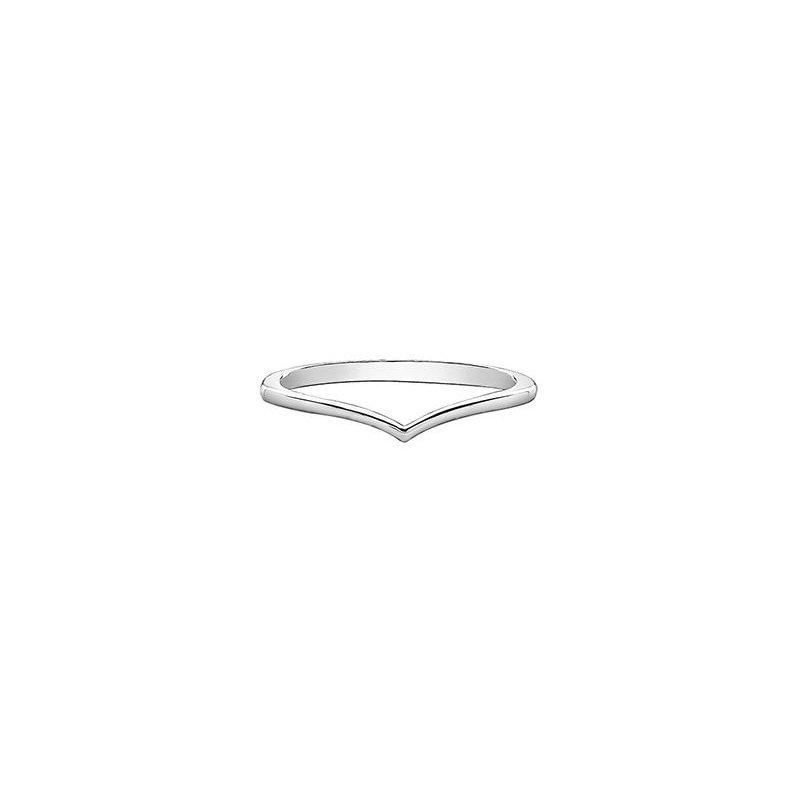Diamond Days 'V' Shape White Gold Ring