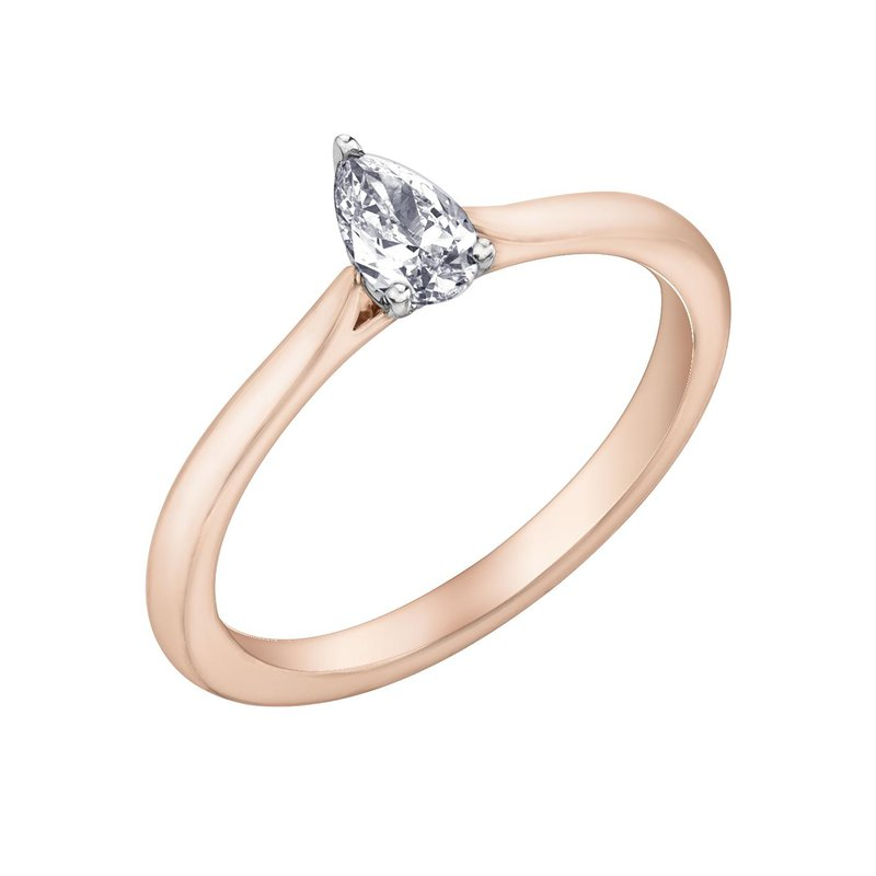 Diamond Days Pear-Shaped Solitaire Diamond Ring