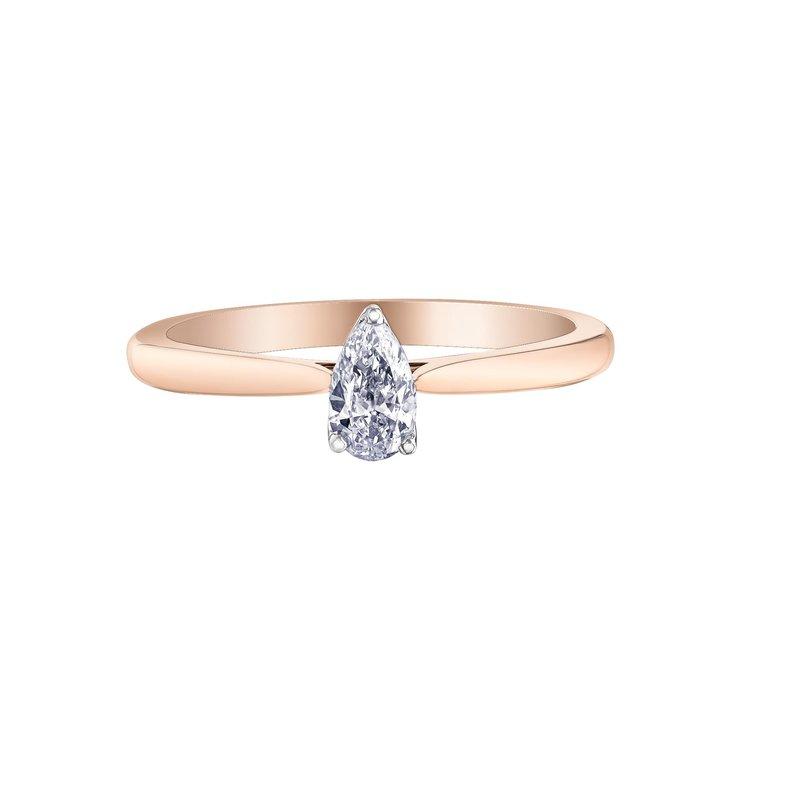 Diamond Days Pear-Shaped Solitaire Diamond Ring