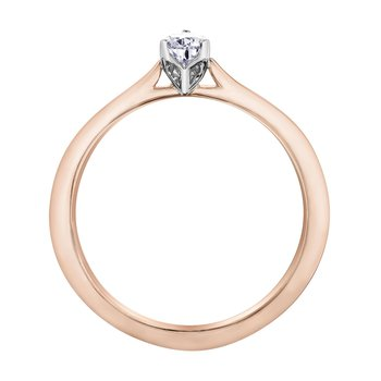 Pear-Shaped Solitaire Diamond Ring