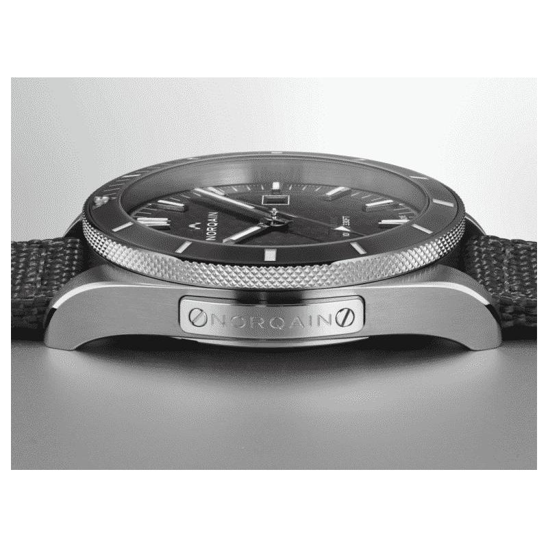 NORQAIN Adventure Sport Auto Steel Grey Ceramic Bezel Grey Dial Steel Bracelet