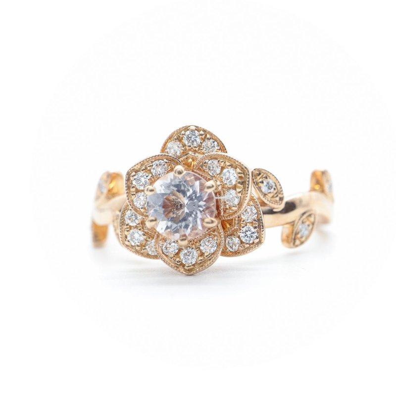 S.KASHI Rose Gold Morganite Ring