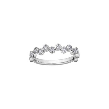 Diamond Bubbles Stacking Ring