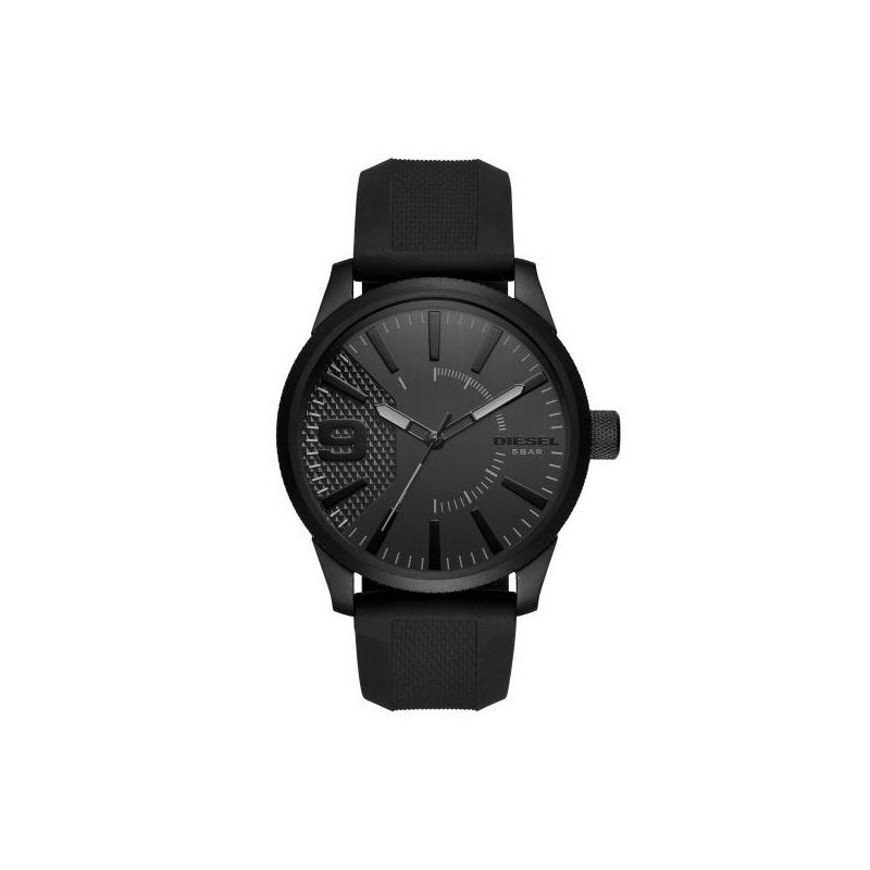 Diesel Rasp Black Silicone Strap Watch