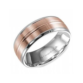 8MM Rose & White Gold Men's Band