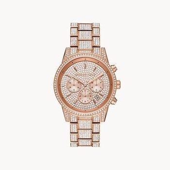 Ritz Pavé Rose Tone Watch