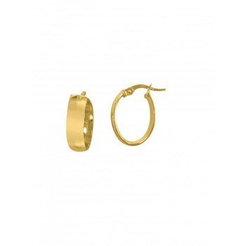 14K Yellow Gold Small Oval Hoops