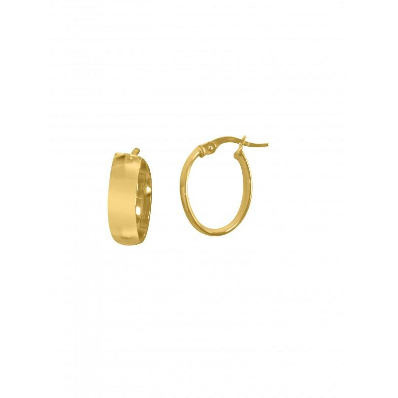 Richardson Signature 14K Yellow Gold Small Oval Hoops