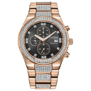 Men's Citizen Eco-Drive Watch- Crystal