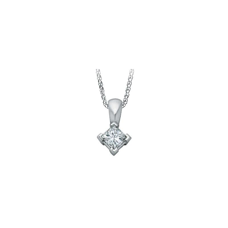 Maple Leaf Diamonds Candian 0.50CT Princess-Cut Diamond Solitaire Pendant