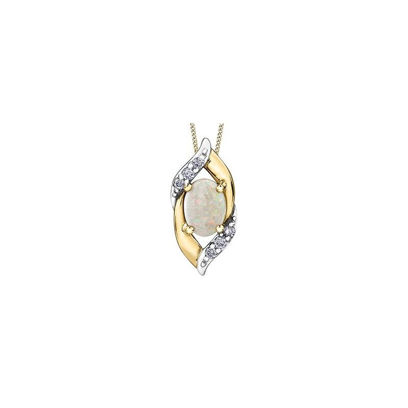 Diamond Days Opal Pendant