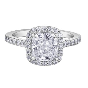 1.96CT Diamond Halo Ring