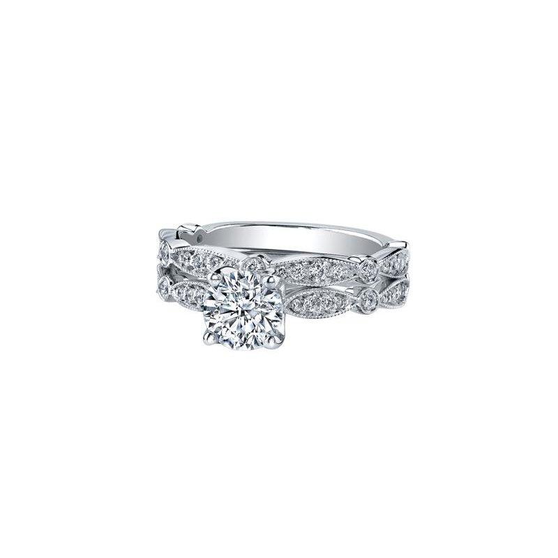 Maple Leaf Diamonds Vintage-Inspired Engagement Ring