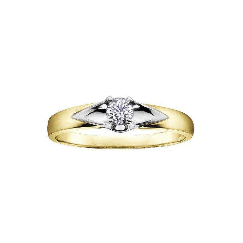 Diamond Days Two- Tone Diamond Solitaire Ring