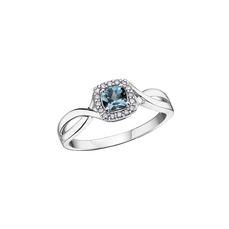 Diamond Days Blue Topaz & Diamond Ring