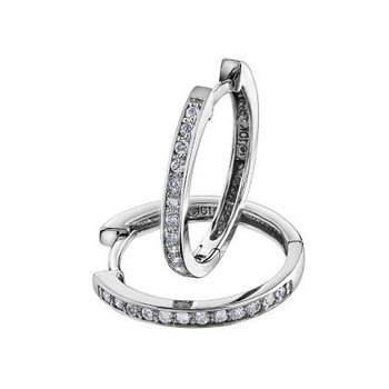 Diamond Huggie Hoops