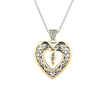 Celtic Open Heart Pendant