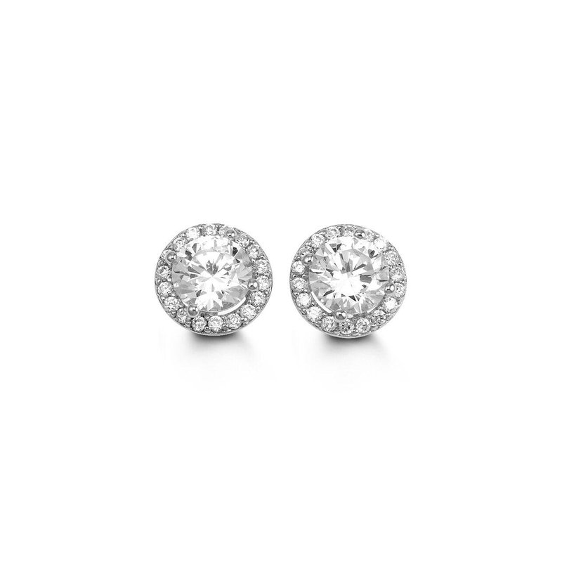 Richardson Signature Cubic Zirconia Stud Earrings