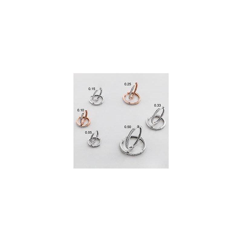 Diamond Days Diamond Huggie Earrings