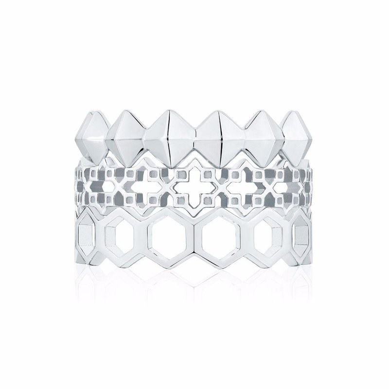 Bijoux Birks BIRKS ICONIC Silver Stackable Muse Ring